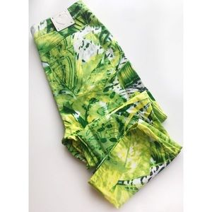 Escada • Green White Patterned Tropical Trousers